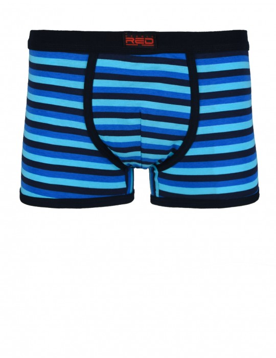 RED BOXER Stripes Blue
