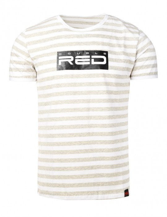 Striped T-Shirt ALL LOGO Black