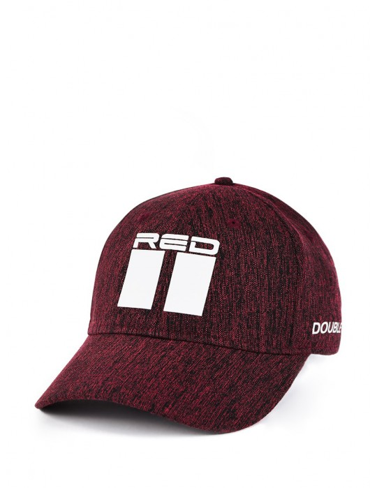 Bordeaux DOUBLE RED Melange Stretch Fit 3D Logo Cap