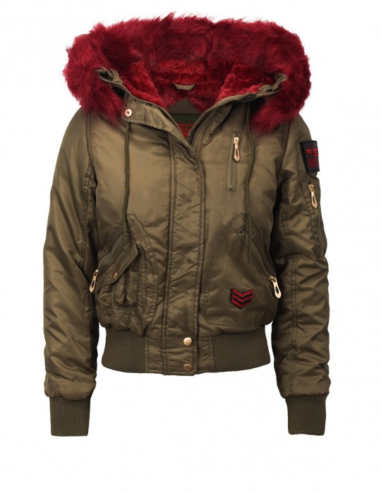 Short Parkas Dark Red Limited Edition