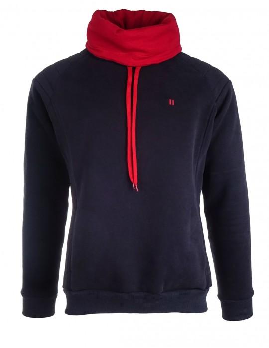 Dark blue sweatshirt WARRIOR