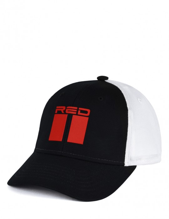 DOUBLE RED 3D White/Black Cap
