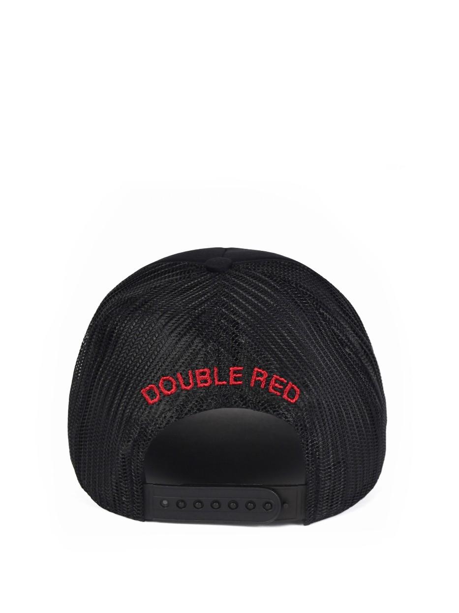 DOUBLE RED 3D Black Cap