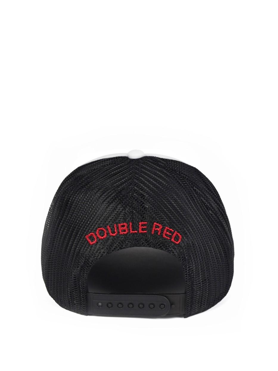 DOUBLE RED 3D Black/White Cap