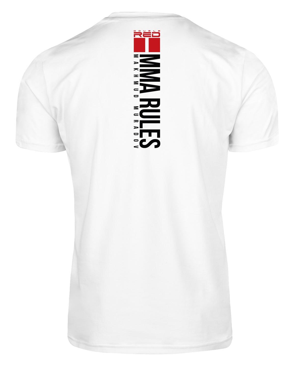 T-Shirt MMA RULES MAKHMUD MURADOV White