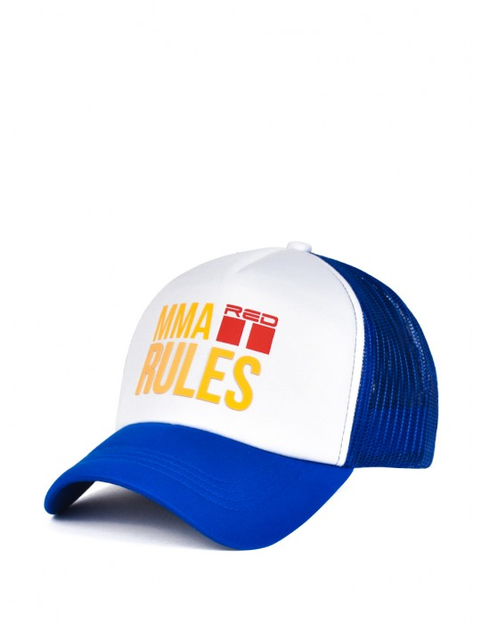 MMA RULES Blue/White Cap