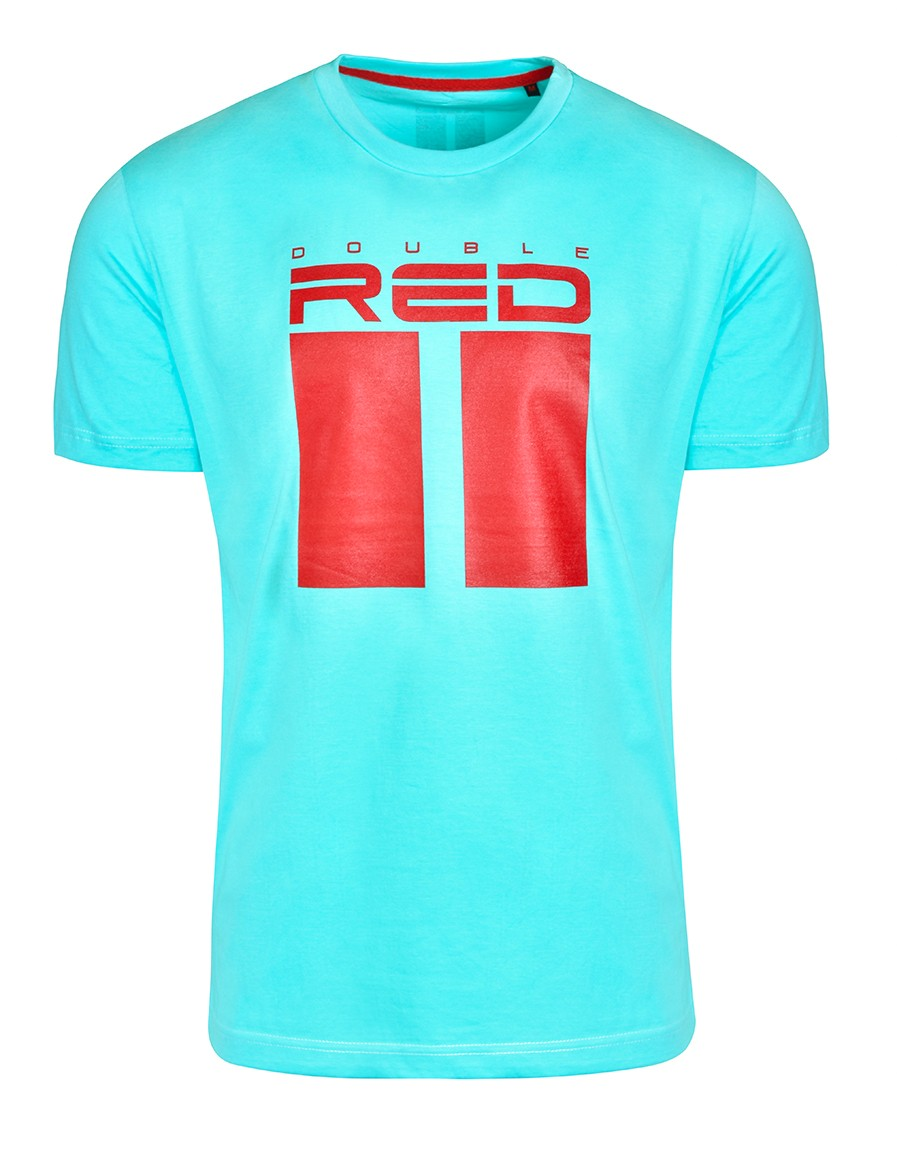 T-shirt ALL LOGO Turquoise