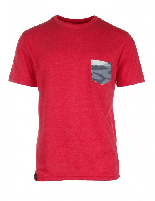 Salmon pink T-shirt Camo pocket