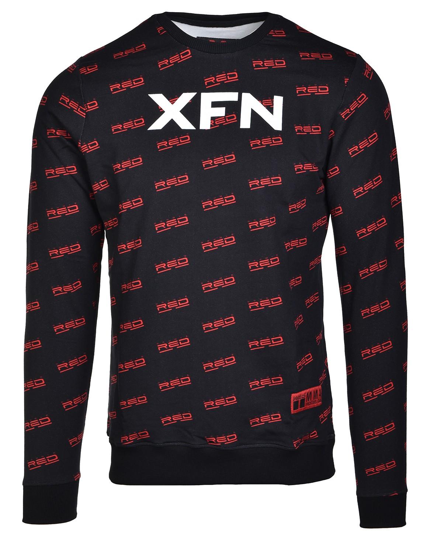 Sweatshirt XFN Fighters Club/DOUBLE RED Full Logo Black
