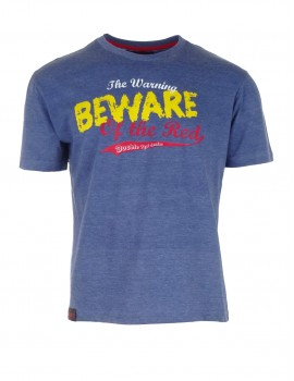 Blue T-shirt Beware of the Red