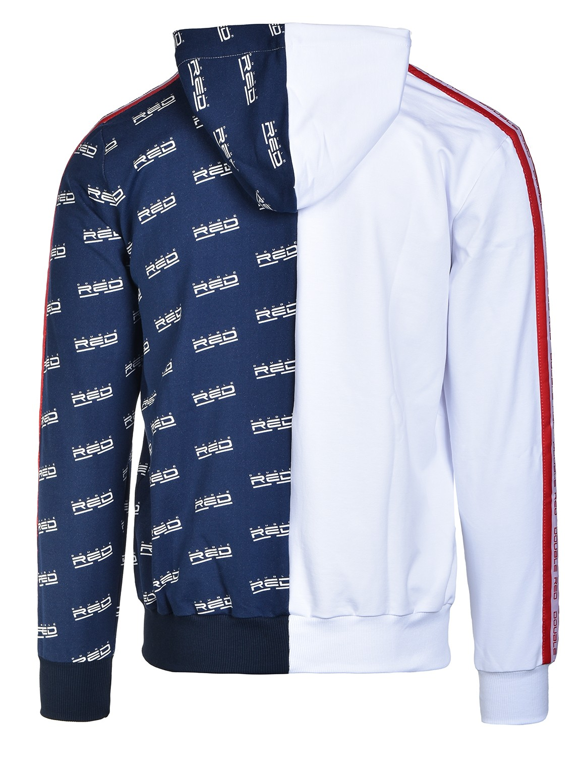Hoodie DOUBLE FACE White/Blue