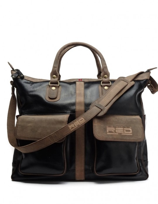 Leather over the shoulder bag