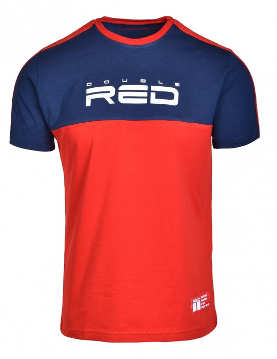T-Shirt OUTSTANDING Dark Blue/Red