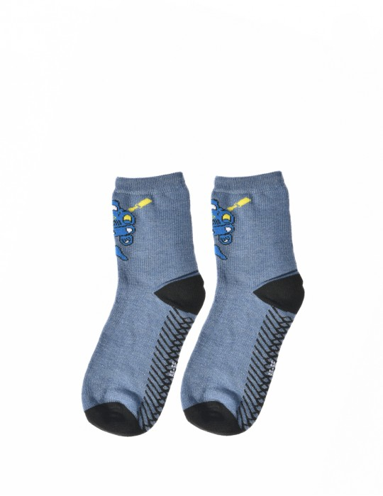 KID Fun Socks Blue Car