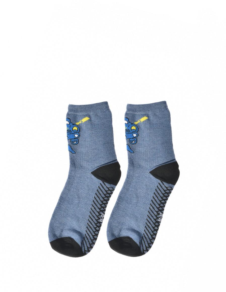 KID Fun Socks Blue Car