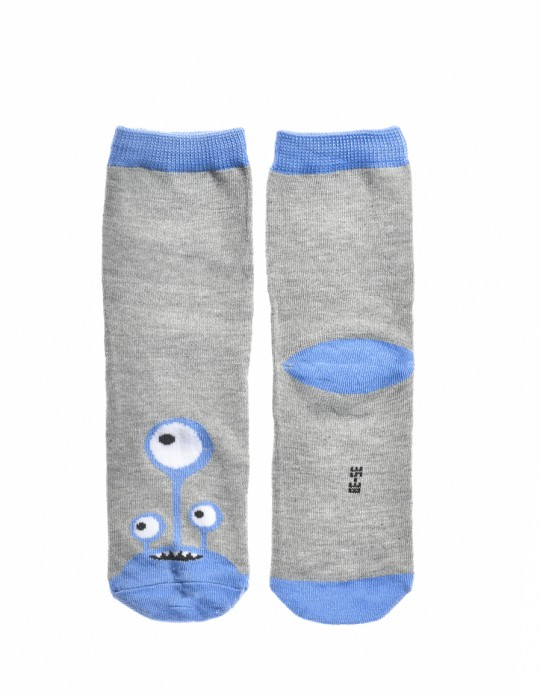 KID Fun Socks Blue / Grey Monster