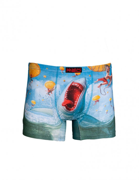 2FUN Boxers Mad Shark Blue