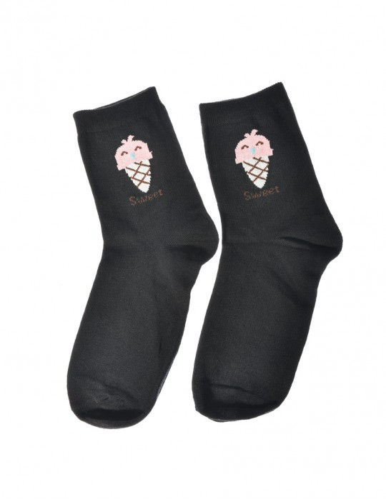DOUBLE FUN Socks Sweet Ice Black