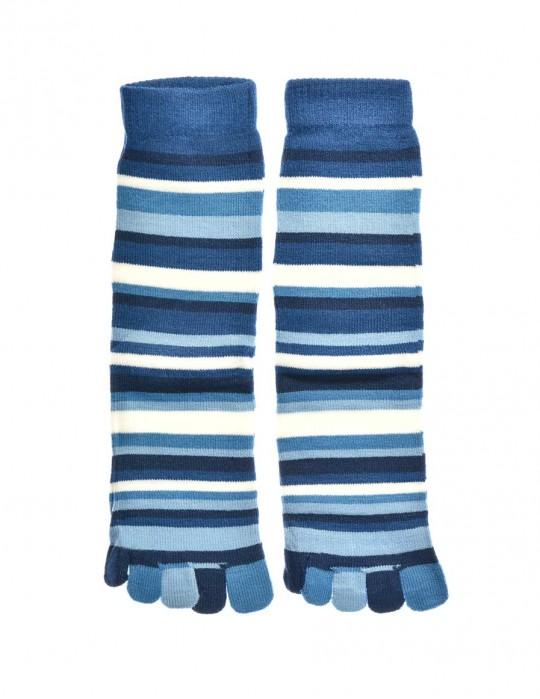 DOUBLE FUN Toe Socks Aqua