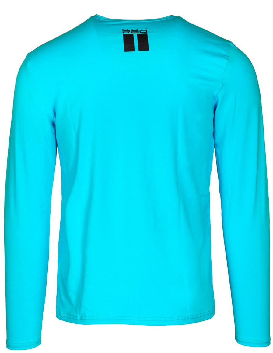 Red Neon Long Sleeve T-Shirt Turquoise