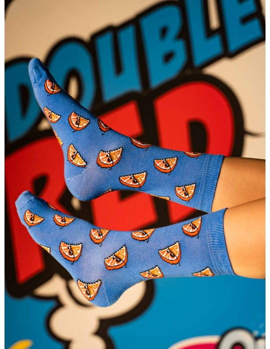 DOUBLE FUN Socks ThugLife Orange