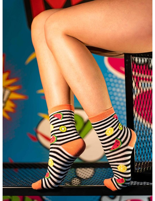 Women's FUN Socks Fruits