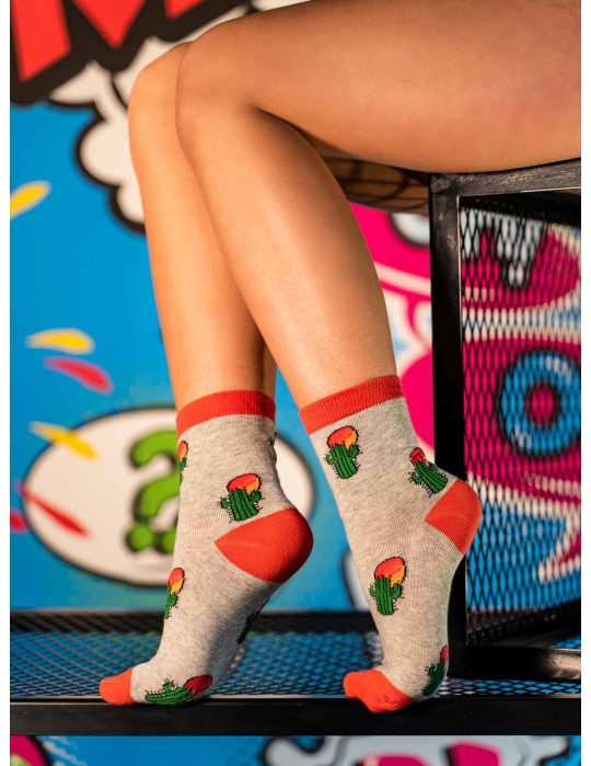 Women's FUN Socks Cactus