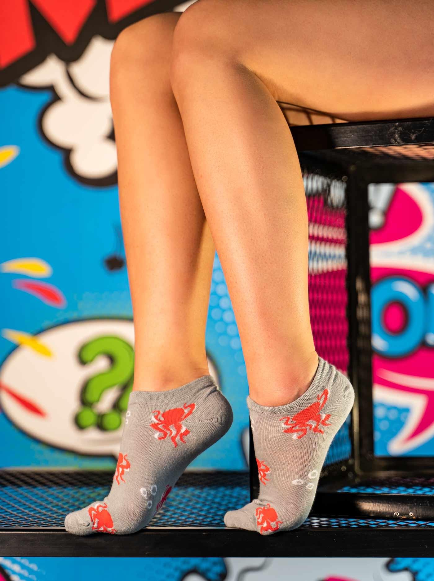 Women's Low Cut FUN Socks Octopus